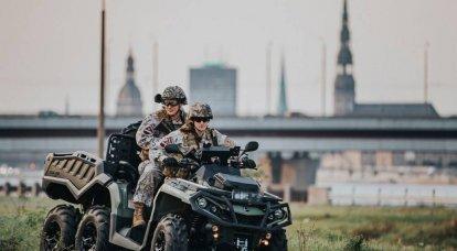 Die Militärpsychose in Lettland hat die Grenze erreicht - bewaffnete Menschen auf den Straßen von Riga