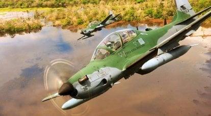 Kampfeinsatz des Turboprop-Kampfflugzeugs EMB-314 Super Tucano