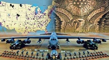 Vergleich der strategischen Nuklearstreitkräfte Russlands und der Vereinigten Staaten. Infografiken