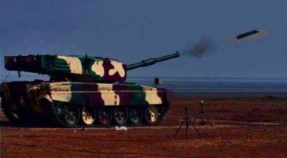 """Em vez de mísseis russos: o tanque indiano """"Arjun"""" disparou de volta com um novo ATGM"""