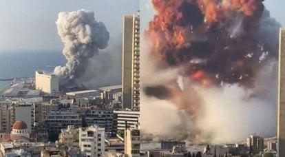 Une explosion de force énorme dans la capitale du Liban a frappé le cadre