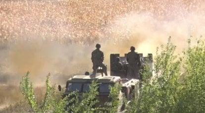 """मोल्दोवा की सेना के अभ्यास में एमएलआरएस से ट्रैक्टर की चेसिस पर """"अवर थ्रेशर"""" दिखाया गया"""