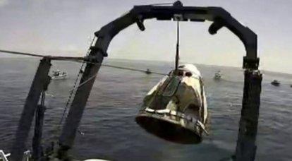 Crew Dragon, un navire avec équipage américain, s'est écrasé en toute sécurité au large de la Floride