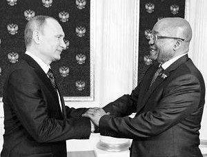 Amizade da Rússia e da África do Sul Alarmaram os ocidentais
