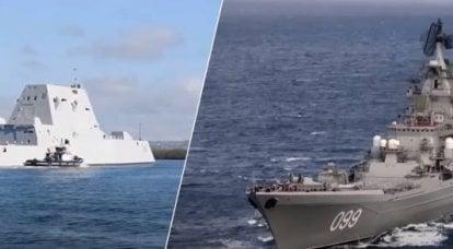 アメリカの専門家:巡洋艦「ピーターザグレート」は駆逐艦Zumwaltのミサイルの完全に区別可能なターゲットに変わる可能性があります