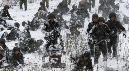 O comando de Rosgvardiya complicou treinamento de forças especiais de montanha