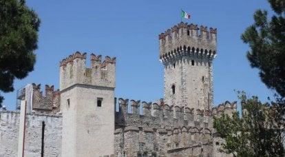 History in stone. Scaliger Castle on Lake Garda
