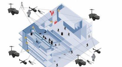 対テロ車両:統合された空間分布の狙撃兵複合体