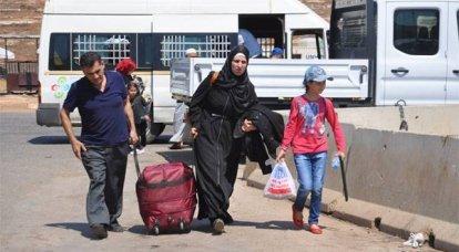 Refugiados retornam à Síria