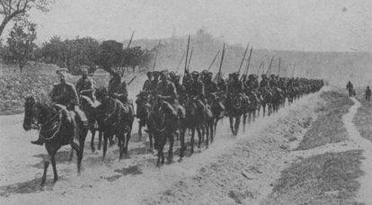 ロシアの栄光の100年。 ロシアの騎兵:ランサー、ドラゴン、騎兵
