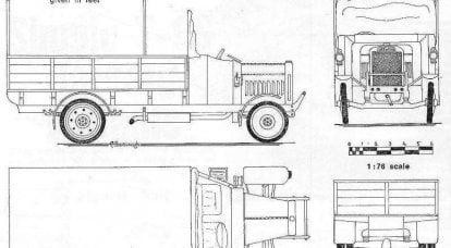 第一次世界大战的卡车。 英国
