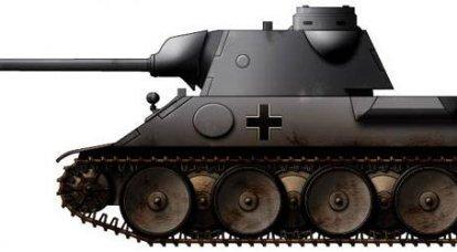 एक मध्यम टैंक VK 3002 (DB), जर्मनी की परियोजना