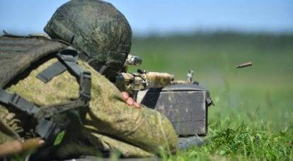 在克里米亚,海军陆战队训练以消灭破坏者