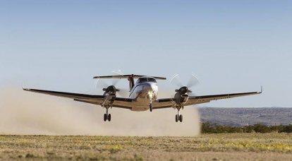 बीचक्राफ्ट किंग एयर। अमेरिकी वायु सेना का कार्यकर्ता