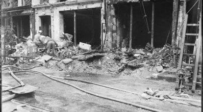 1918年のパリの砲撃