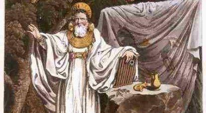 ケルト人の吟遊詩人とドルイド僧