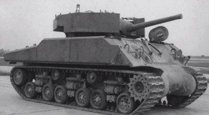 발사체에 대한 자갈. M4 탱크 용 실험용 부착 장갑 (미국)