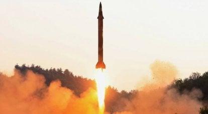 북한은 미사일을 어디에서 날 수 있습니다. Infographics