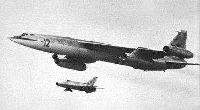 Süpersonik stratejik bombardıman uçağı M-50. İnfografikler