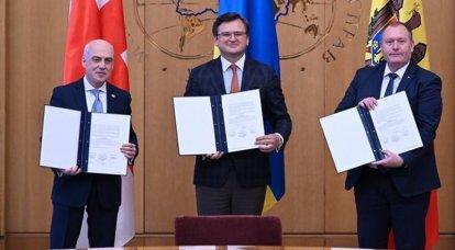 """""""Trio associato"""": Ucraina, Georgia e Moldova hanno deciso di collaborare per entrare a far parte dell'UE"""
