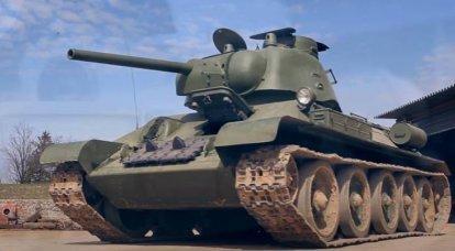 T-34。 伝説の戦車の修復