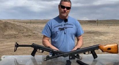 Los estadounidenses están probando la ametralladora soviética Sudaev
