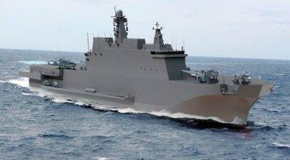 Navires du projet 23900: navires d'assaut amphibies universels auto-développés