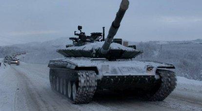 A Brigada de Fuzil Motorizada 200-I SF completou o rearmamento do T-80BVM modernizado