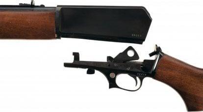स्व-लोडिंग राइफल विनचेस्टर मॉडल 1907 (यूएसए)