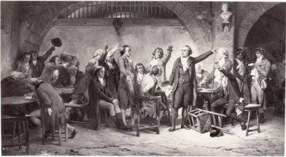 French revolution. Thunder of the revolution