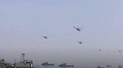 """Na China, falou sobre exercícios de """"assalto tridimensional"""" com a participação do Corpo de Fuzileiros Navais do PLA"""