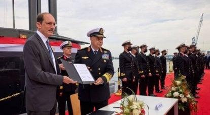 Egito recebeu o quarto submarino diesel-elétrico S44 do projeto 209 / 1400Mod, construído na Alemanha