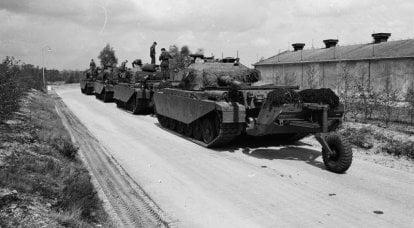 """Tank römork Mono Wheel Trailer: """"Centurion"""" için çekilen tank"""