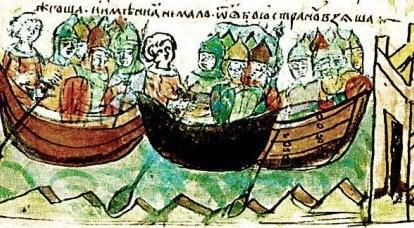 「ロシア人が来て、彼らの船は無数にあり、船は海を覆っています!」