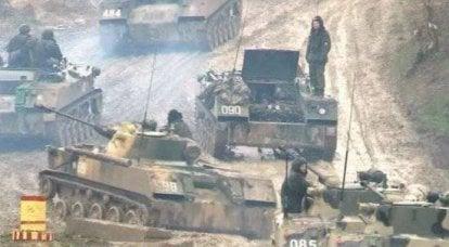 Perto Novorossiysk foram exercícios militares únicos
