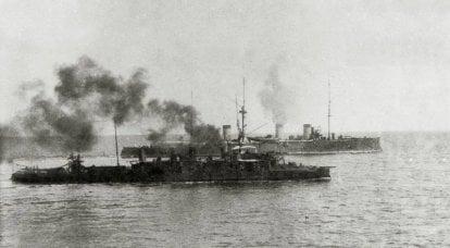 """""""मोती"""" और """"एमराल्ड"""" त्सुशिमा में। दिन की लड़ाई में क्रूज़र्स की कार्रवाई 14 मई"""