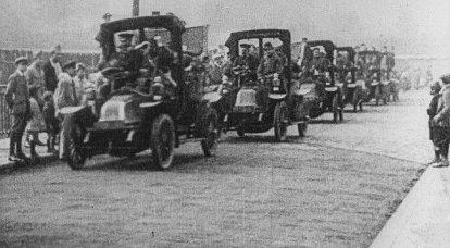 第一次世界大战的卡车。 奥匈帝国和德国