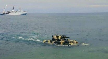 """""""आधुनिक और दुर्जेय"""": यूक्रेन ने नौसेना के लिए बख्तरबंद कर्मियों के वाहक BTR-4E के """"नौसेना"""" संस्करण का परीक्षण किया"""