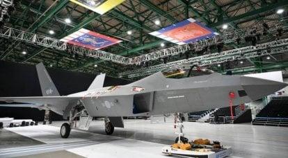 Projeto KAI KF-21. Protótipo após a apresentação e antes do teste