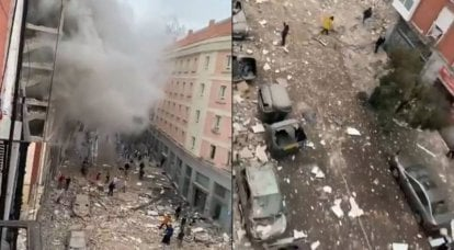 There were footage from the scene of the explosion in the capital of Spain