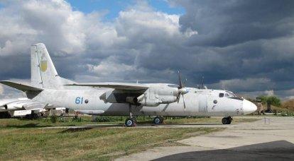 Eine ukrainische Luftwaffe An-26 wurde in einem ukrainischen Werk repariert, das sie selbst beschädigten