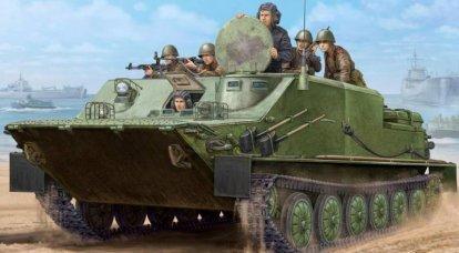 BTR-50P. Karadan ve sudan