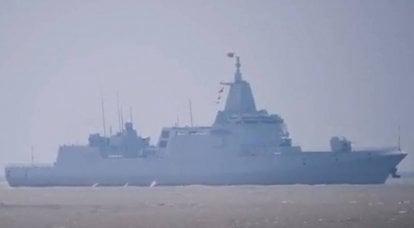 A Marinha chinesa reabasteceu com o segundo mais novo destruidor do Projeto 055