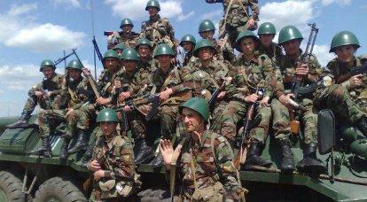 現段階でのモルドバの軍隊