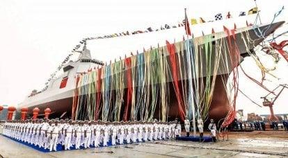 中国語の「タイプ055」。 巡洋艦の特徴を備えた破壊者