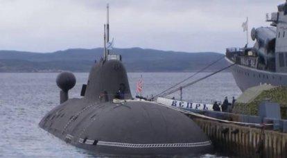プロジェクト971原子力潜水艦Veprが修理後に北艦隊に帰還