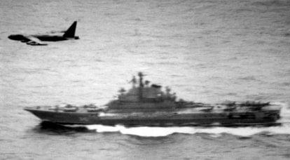 Bombardeiros americanos contra porta-aviões soviéticos