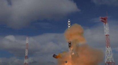 """RS-28""""萨尔马特""""洲际导弹的飞行设计测试的开始日期已经宣布。"""