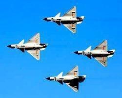中国の空軍。 中国は潜在的な買い手に戦闘機J-10(建10)を導入しました