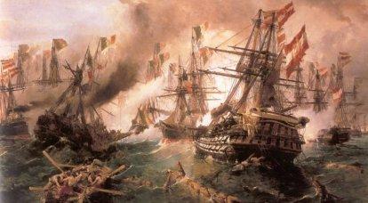 लिस की लड़ाई। पहला नौसेना युद्ध बख्तरबंद स्क्वाड्रन